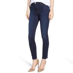 Frame Le High Slit Hem Skinny Jeans